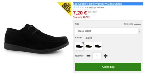 Lee Cooper Fabric Warren W Mens Shoes