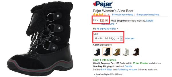 5995bb98f Зимние сапоги от Pajar 26,51$,Зимние аксессуары Columbia от 5,98 ...