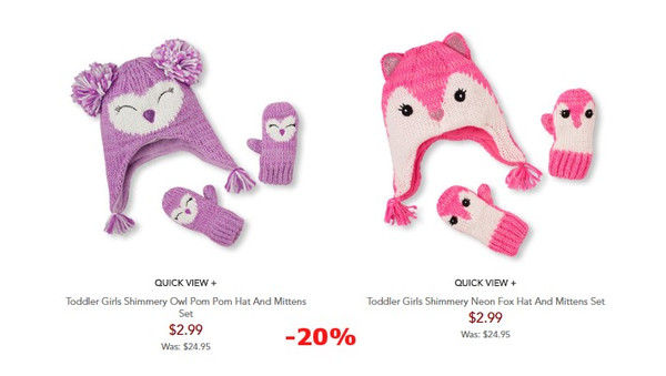 77dbef310ab http   www.childrensplace.com shop us p kids-clearance-clothing toddler-girl -clothes Toddler-Girls-Shimmery-Owl-Pom-Pom-Hat-And-Mittens-Set-2067394-1280