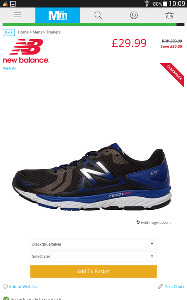 Mandm Direct Mens Running Shoes